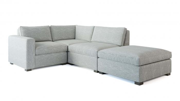 Toba Corner Sofa Angle View WHITE BG