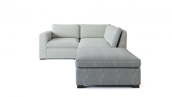 Toba Corner Sofa Front View WHITE BG