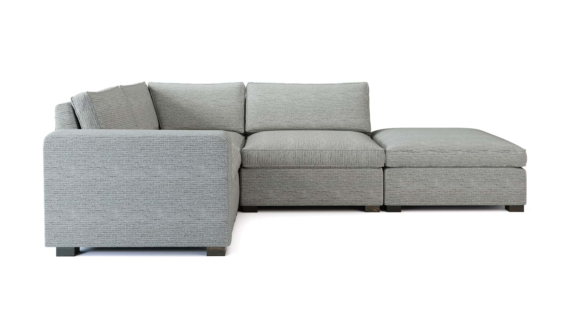 Toba Corner Sofa Side View WHITE BG