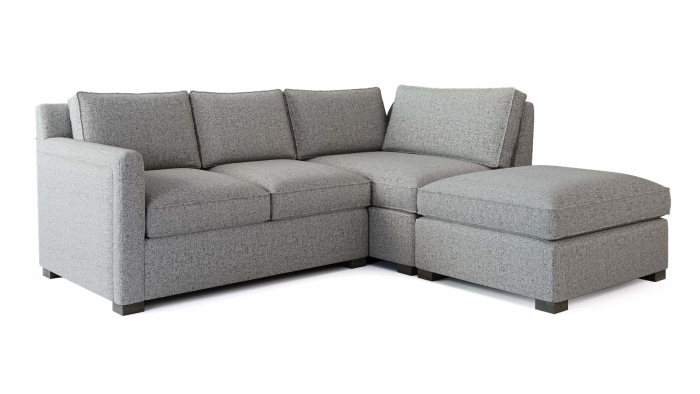 Torrens Corner Sofa Angle View White BG