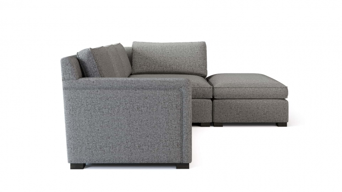 Torrens Corner Sofa Side View WHITE BG
