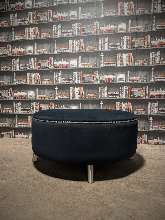 Front view of the norman footstool