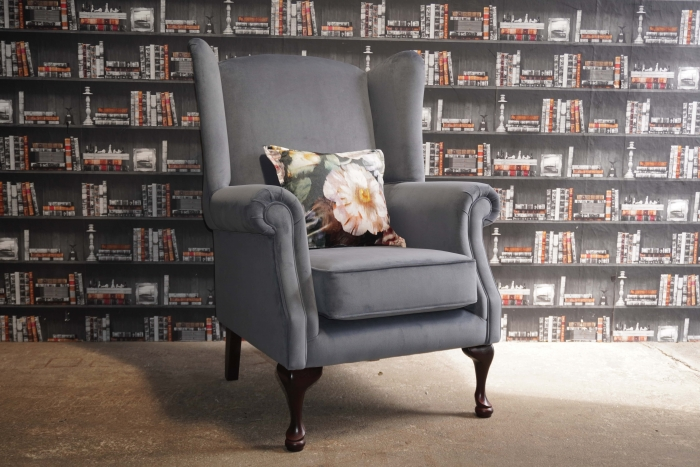 Quee Anne chair side angle view picture