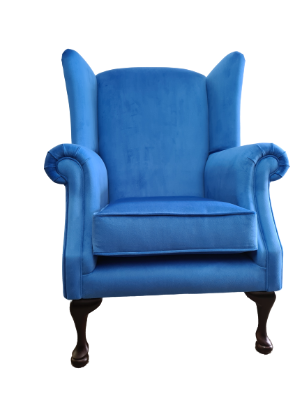 Imperial Blue Queen Anne Chair - Bottom View