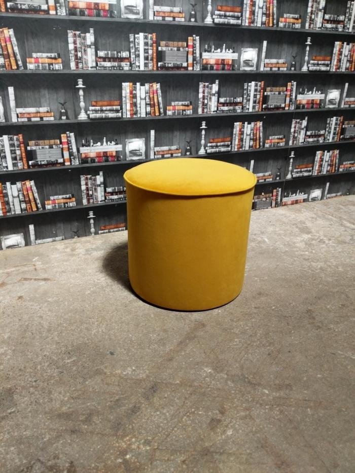Turmeric footstool angle view