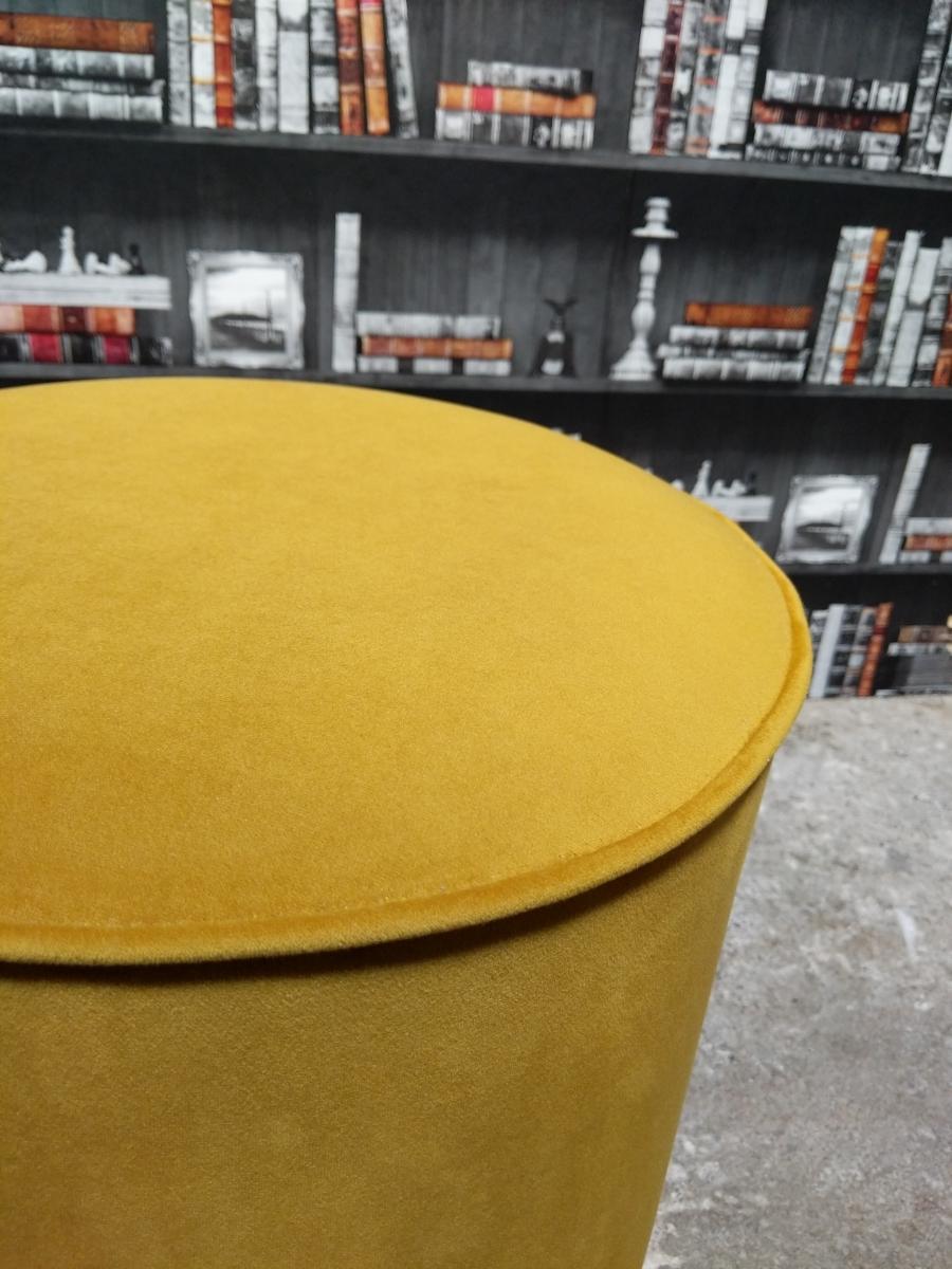 Turmeric footstool close up