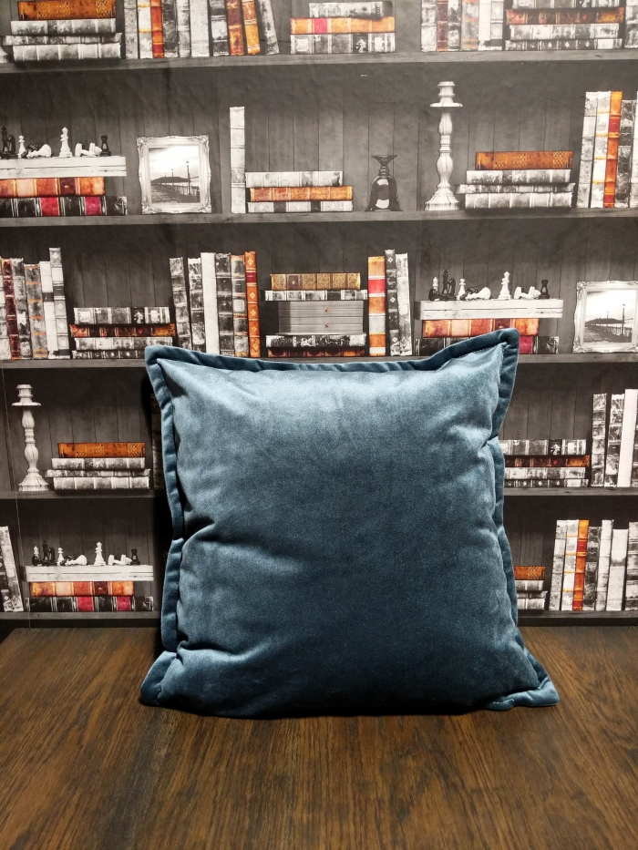 gray blue cushion