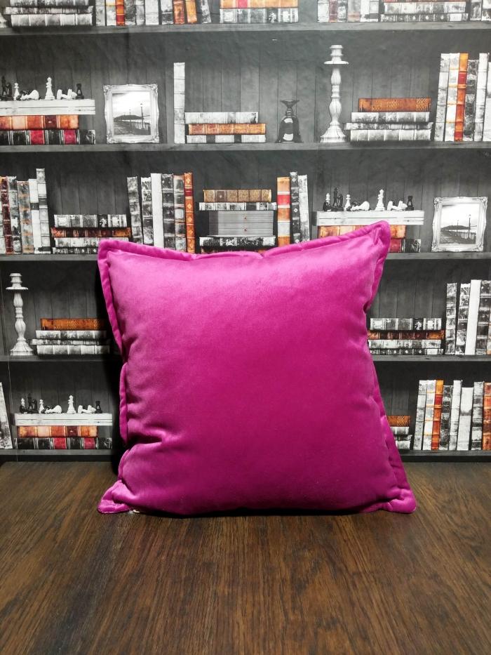 fuchsia pink cushion