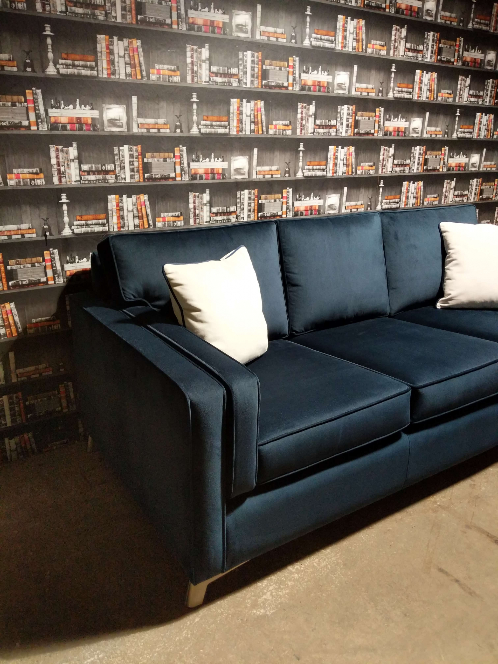 Ontario Sofa Navy Side View