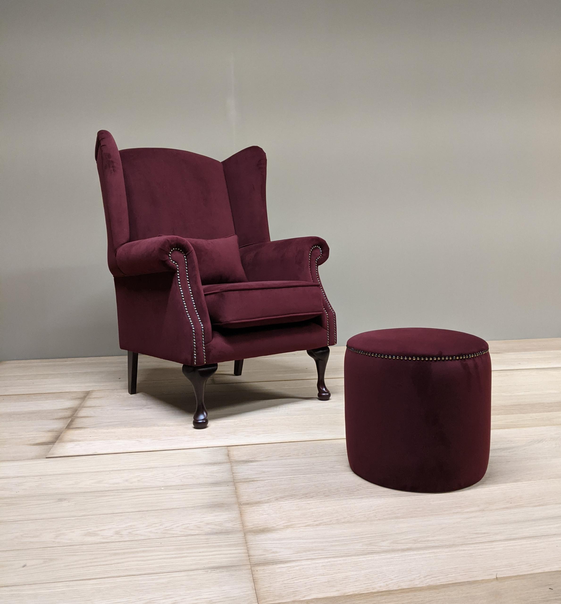 Burgundy Single Armchair
