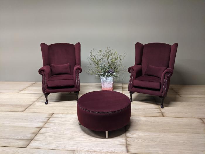Burgundy Double Armchair